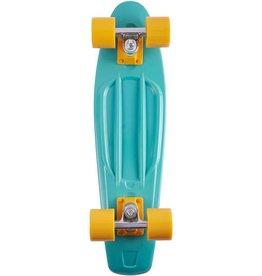 Ten Toes Board Emporium QUIP Mini Cruiser Skateboard. Sage and Mustard