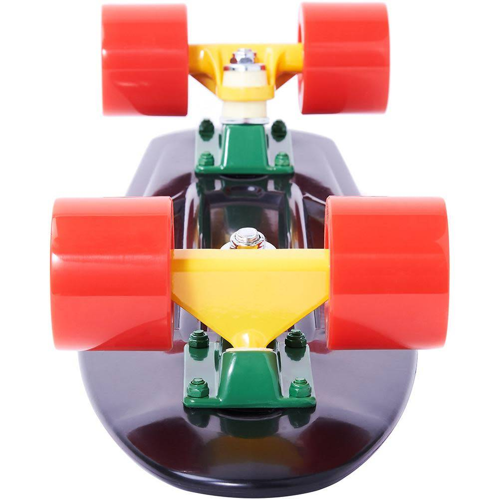 Ten Toes Board Emporium QUIP Mini Cruiser Skateboard. Rasta