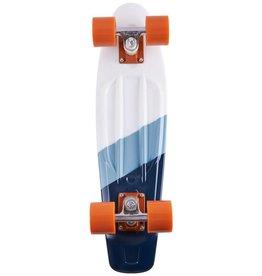 Ten Toes Board Emporium QUIP Mini Cruiser Skateboard. Gradiant Stripe and Orange