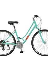 "Retrospec Bicycles Motley 21-Speed Hybrid Bike Step-Thru. 18"""