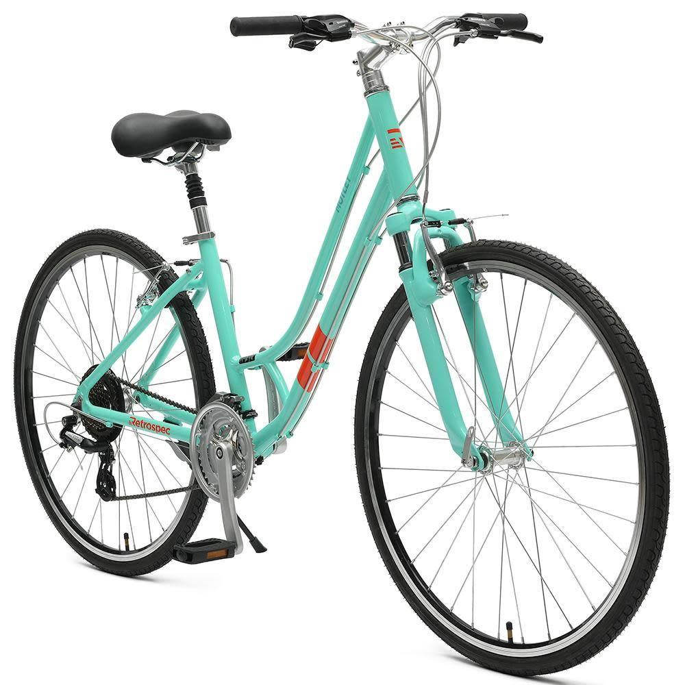"Retrospec Bicycles Motley 21-Speed Hybrid Bike Step-Thru. 14"""