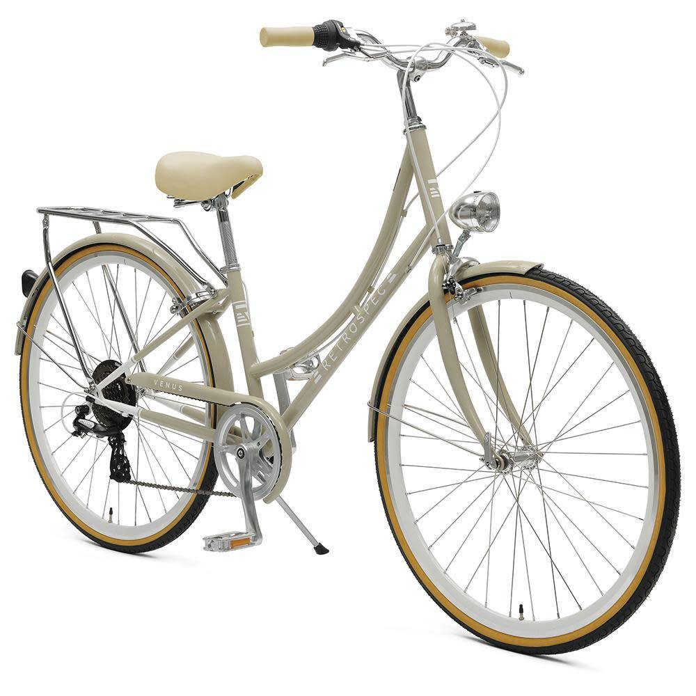 Retrospec Bicycles Venus 7 Speed City Bike. Taupe, 44cm