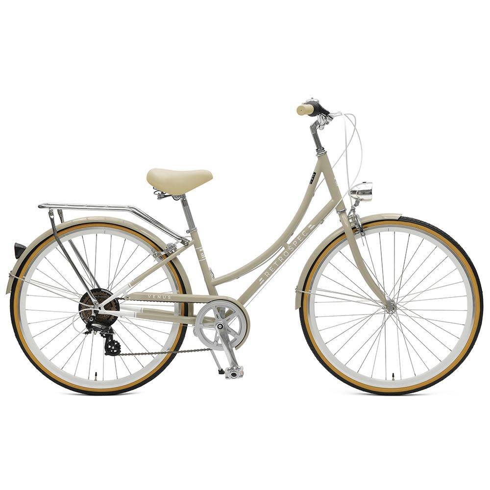 Retrospec Bicycles Venus 7 Speed City Bike. Taupe, 38cm