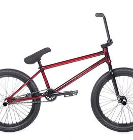 "Cult DEVOTION C Trans Dark Red 21"" (removable 990) w/ Black Parts, 4-pc Bars, Black Ricany Grips, 2 Pegs & Dehart 2.40 Slick Tires"