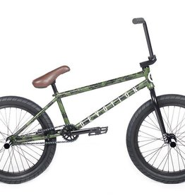"Cult DEVOTION B Green Patina 21"" (removable 990) w/ Black Parts, Black Ricany Grips, 2 Pegs, Black Dehart 2.40 Slick Tires & Brown Seat"