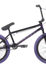 "Cult CONTROL A Black 20.75"" Frame (removable 990) w/ all Black Parts, Black Ricany Grips & Purple 2.40 Dehart Tread Tires"