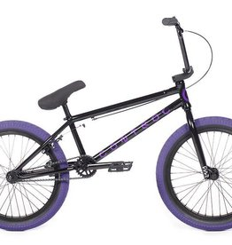 "Cult CONTROL A Black 20.75"" Frame (removable 990) w/ all Black Parts, Black Ricany Grips & Purple 2.40 Dehart Tread Tires"