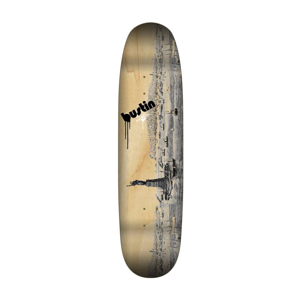 """Bustin Boards CRAFT SERIES 8.875"""" Deck - 'Old New York' Graphic"""