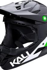 Kali Protectives Zoka Helmet Pinner Gloss Black/Lime/White Youth L