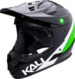 Kali Protectives Zoka Helmet Pinner Gloss Black/Lime/White Youth M