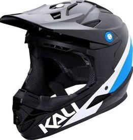 Kali Protectives Zoka Helmet Pinner Gloss Black/Blue/White Youth M