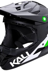 Kali Protectives Zoka Helmet Pinner Gloss Black/Lime/White L
