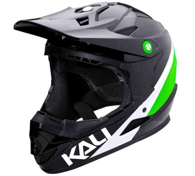 Kali Protectives Zoka Helmet Pinner Gloss Black/Lime/White M