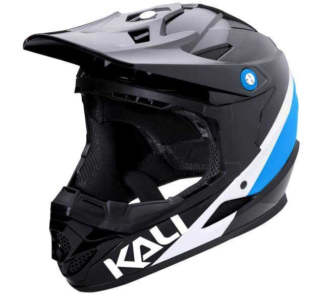 Kali Protectives Zoka Helmet Pinner Gloss Black/Blue/White S