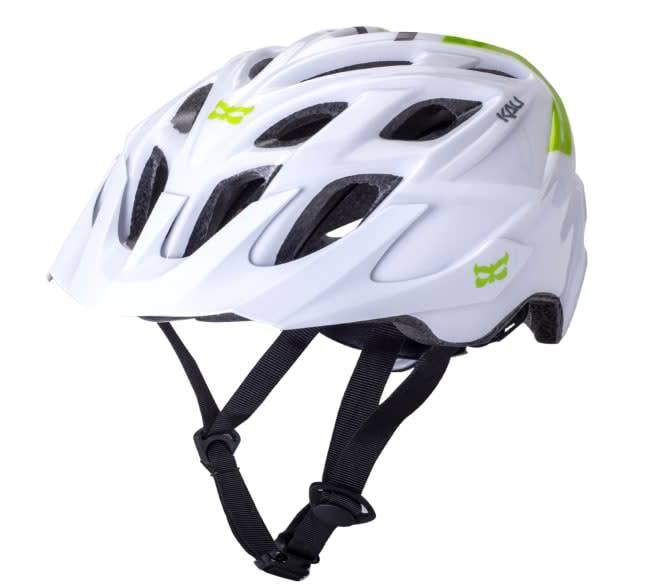 Kali Protectives Chakra Solo Helmet Neo White/Green M/L