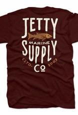 Jetty Bass Supply Tee - Burgundy, S