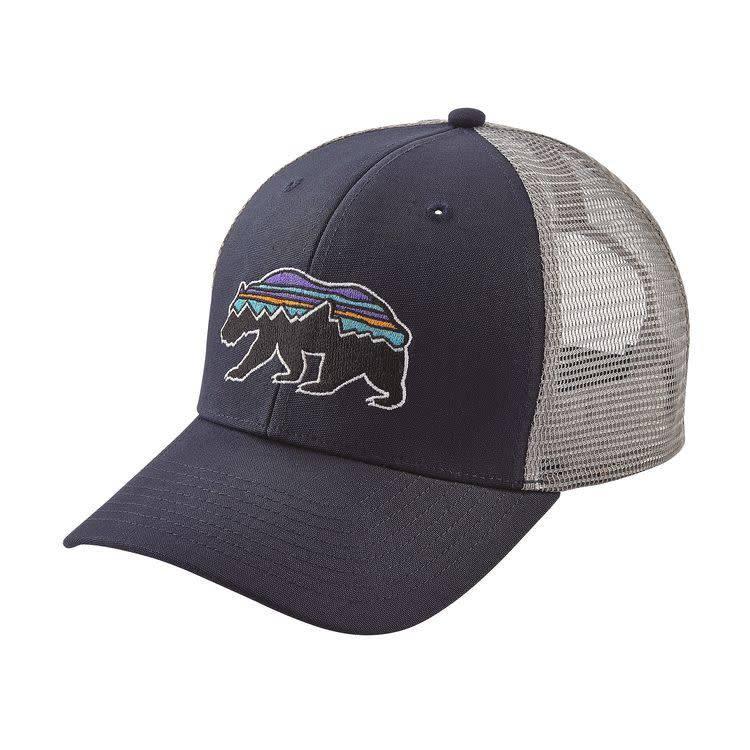 Patagonia Fitz Roy Bear Trucker Hat Navy Blue