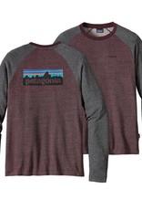 Patagonia M's P-6 Logo Lightweight Crew Sweatshirt Dark Ruby XL