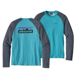 Patagonia M's P-6 Logo Lightweight Crew Sweatshirt Filter Blue L