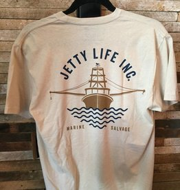 Jetty Salvage Co. Tee - Cream L