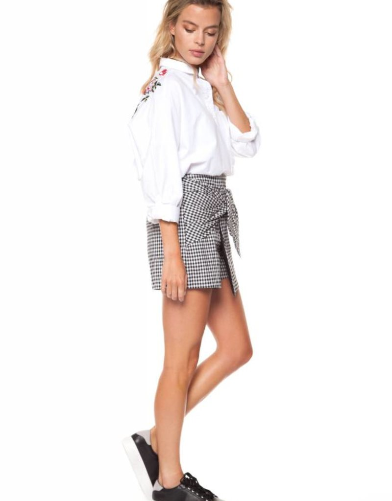 Dex SKORT W/PLEATS AND FRONT TIE DETAIL