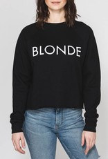 Brunette Blonde Cropped Crew