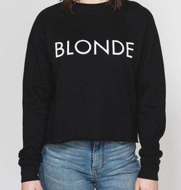 Brunette Blonde Cropped Crew