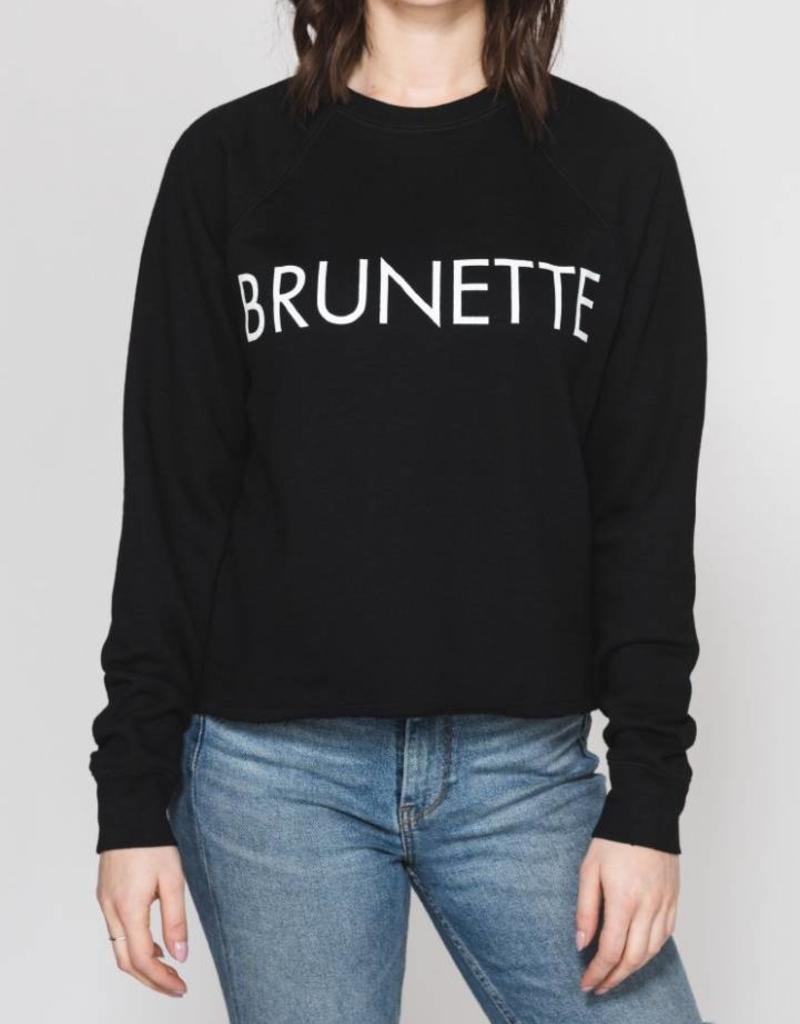 Brunette Brunette Cropped Crew