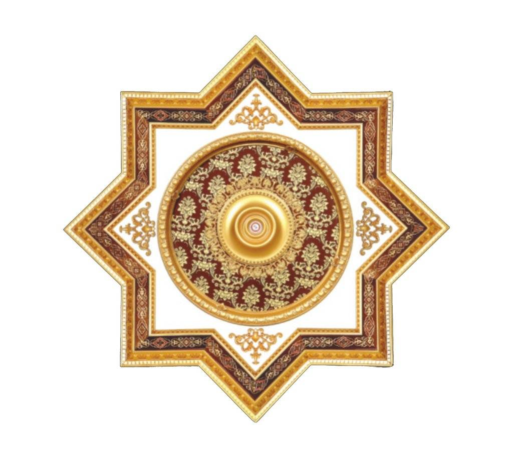 B S Lighting Star 2s 072 43 Inch Ceiling Medallion