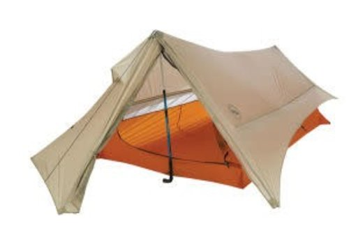 BIG AGNES Scout Plus UL 2 Person Tent, Gray/Gold