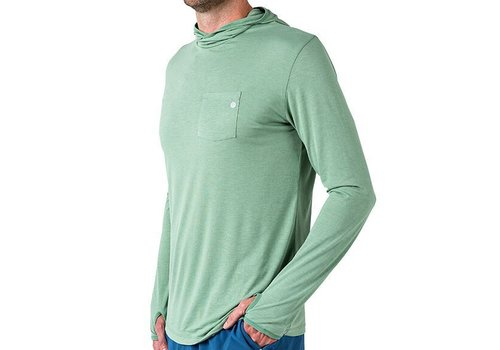 FREE FLY Free Fly - Men's Bamboo Lightweight Hoody, Spartina Green, XXL