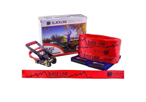 SLACKLINE INDUSTRIES Baseline - Slack Kit 50Ft Slackline, Red
