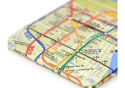 DYNOMIGHTY Dynomighty - Mighty Wallet, NYC Subway Map, O/S