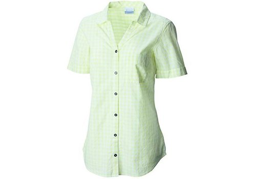 Columbia Columbia - Wild Haven SS Shirt-Neon Light Chec Women's M