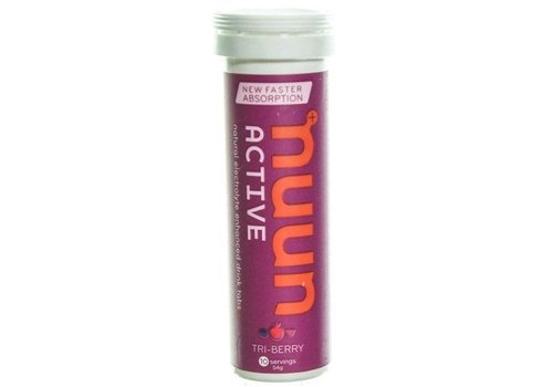 NUUN Nuun - Active, Effervescent Electrolyte Supplement, Tri-Berry