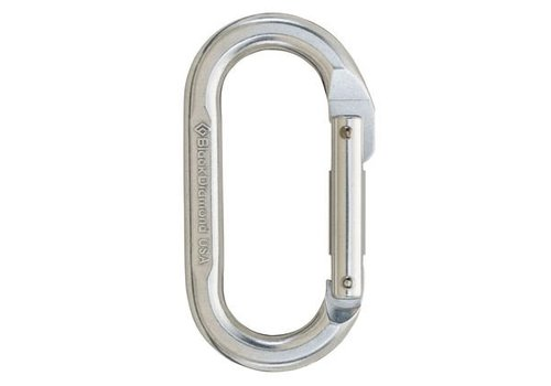 BLACK DIAMOND Black Diamond - Oval Carabiner, Polished, One Size