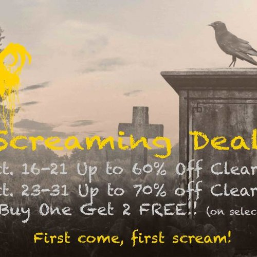 Screaming Deals Fall 2017 - Up to 70% OFF!