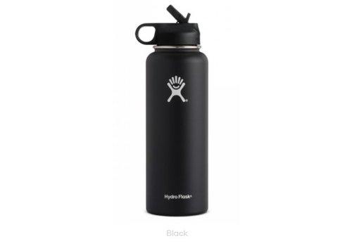 Hydro-Flask - 40 oz Wide Mouth w/ Straw Lid