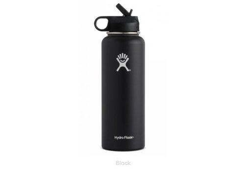 HYDRO FLASK Hydro-Flask - 40 oz Wide Mouth w/ Straw Lid