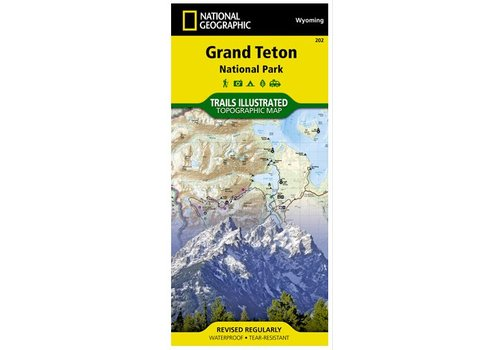 NATIONAL GEOGRAPHIC National Geographic - Trail Maps Grand Teton #202