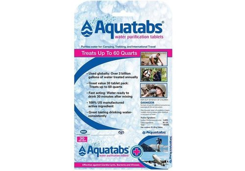 Aquatabs Water Purification Tablets - Package of 30