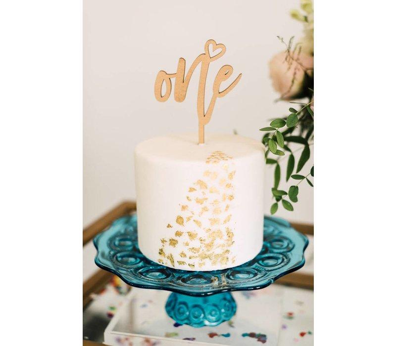 Number Cake Topper, Wood