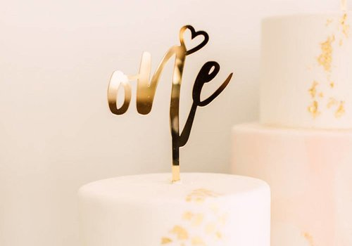 HAPPILY EVER ETCHED Number Cake Topper, Acrylic