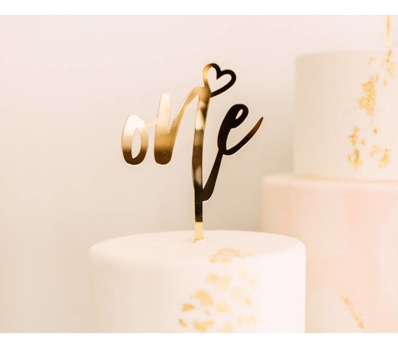 Number Cake Topper, Acrylic