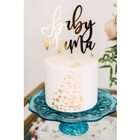 Baby Mama Cake Topper, Acrylic