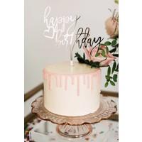 Trendy Happy Birthday Cake Topper, Acrylic