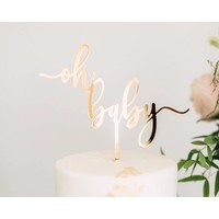 Oh Baby Cake Topper, Acrylic