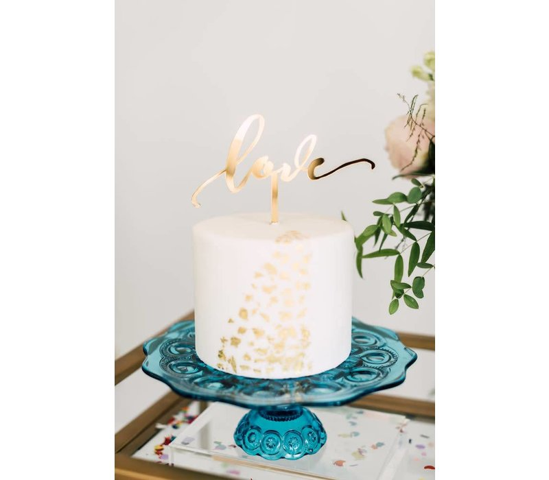 Love Cake Topper, Acrylic