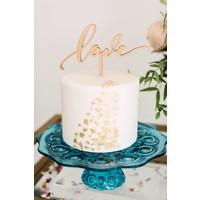 Love Cake Topper, Wood
