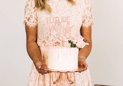 HAPPILY EVER ETCHED Future Mrs Cake Topper, Wood